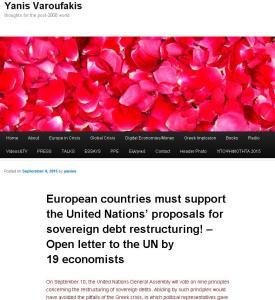 Reestructuración de deudas soberanas. Carta abierta de 19 economistas a la ONU