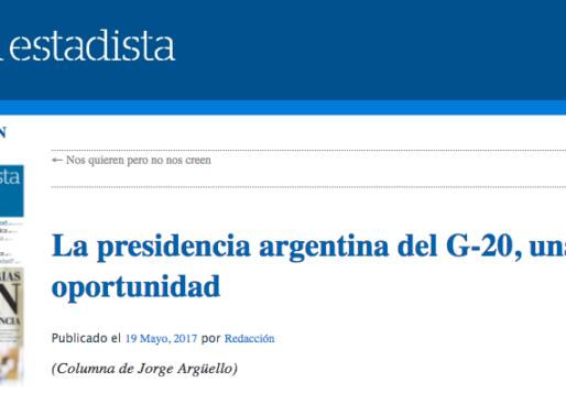 La presidencia argentina del G20, una oportunidad