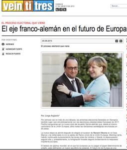 El eje franco-aleman en el futuro de Europa