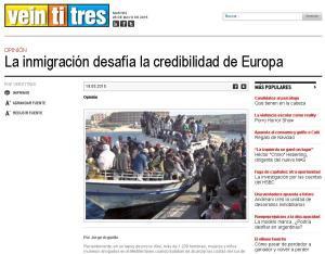 La inmigración desafía la credibilidad de Europa