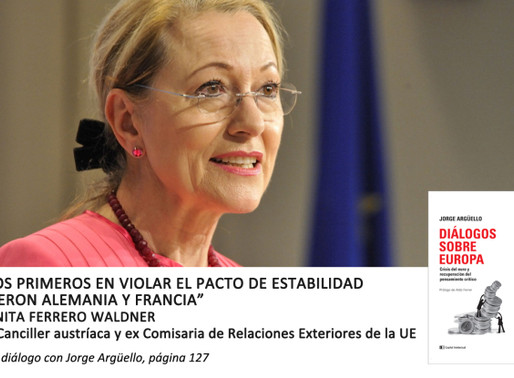 """Benita Ferrero Waldner: """"Los primeros en violar el pacto de estabilidad fueron Alemania y Franc"""