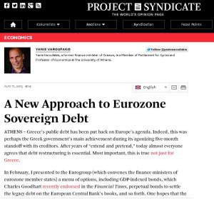 Una propuesta para la deuda soberana en la Eurozona