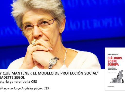 """Bernardette Segol: """"Hay que mantener el modelo de protección social"""""""