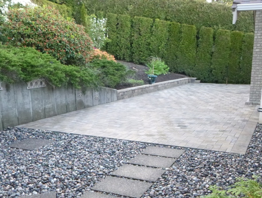 Concrete Paving Stone Patio