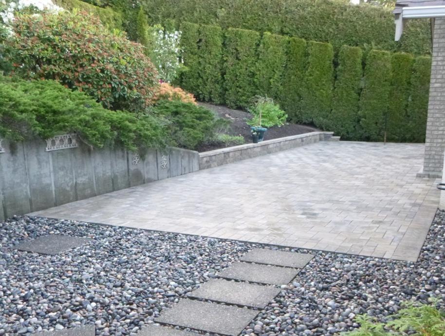 Concrete Paving Stone Patio