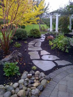 Blue Stone Garden Path