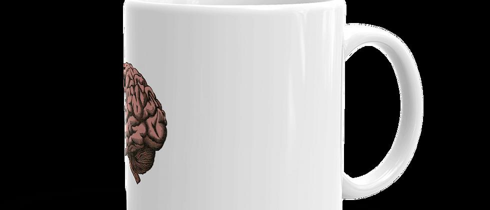White glossy Mug - Brain