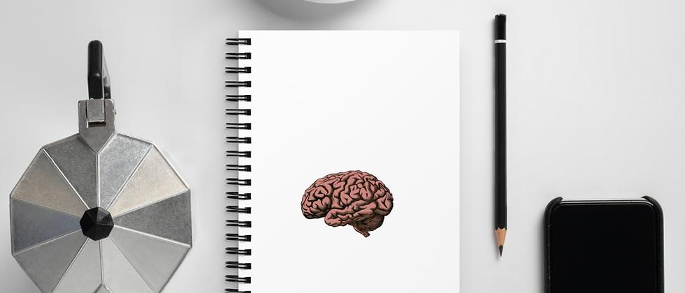 Spiral notebook - Brain
