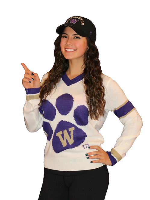 UW Paw ~ White, Purple