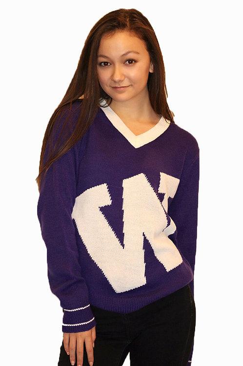 UW W ~  Purple, White