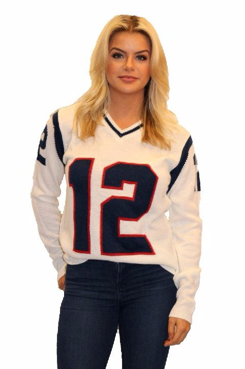 New England Sweater White