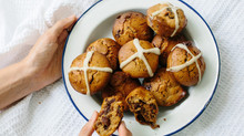 Hot Cross Chocolate & Date Muffins