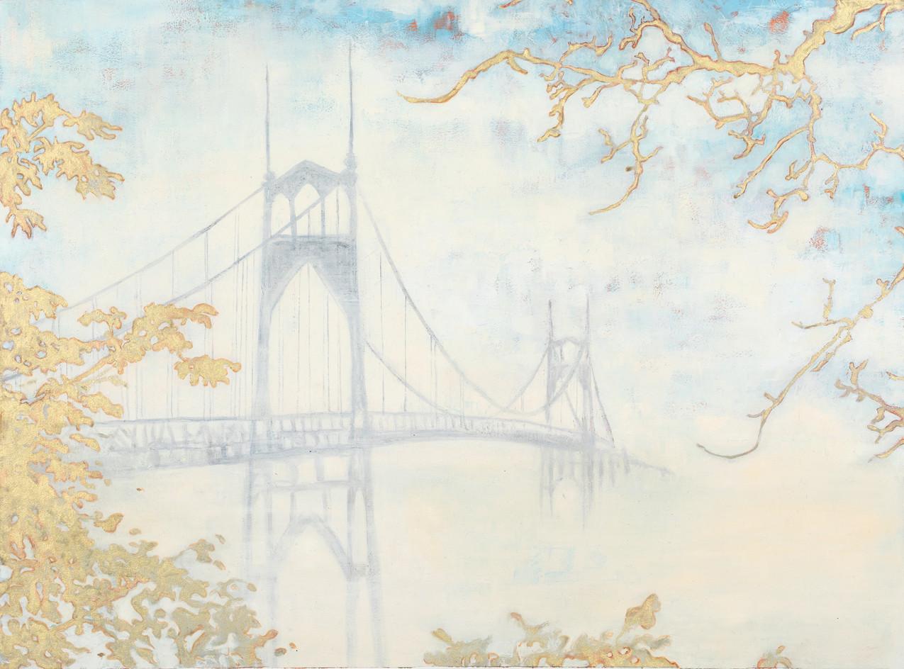 St Johns Bridge in Fog