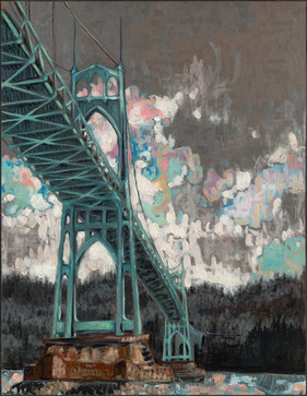 St. Johns Bridge / Grey & Pink Skies