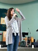 Louise preaching in San Diego, California.