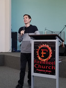 Gabriel preaching in San Diego, California.