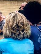 Gabriel being baptized in Israel.