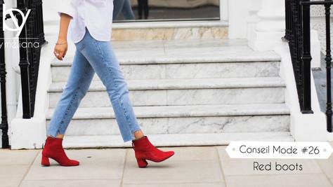 Les boots rouges