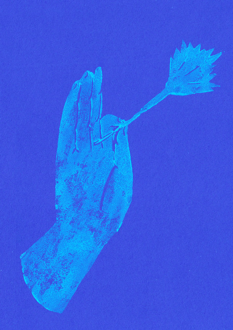 bengal mudra (blue)