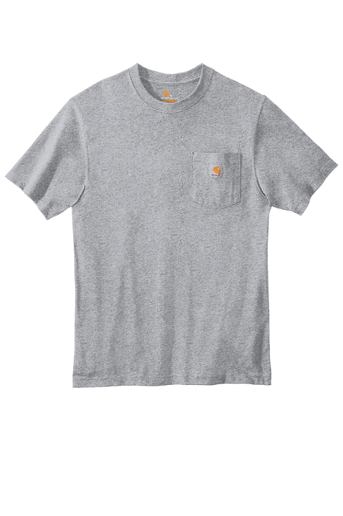 Carhartt Workwear Pocket Tee Short Sleeve Heathered Grey XLT