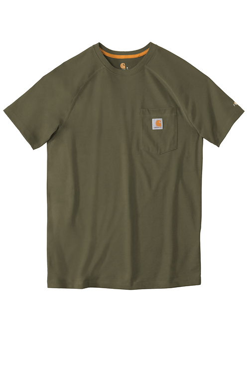 Carhartt Force Delmont Pocket Tee Moss Short Sleeve 2XL