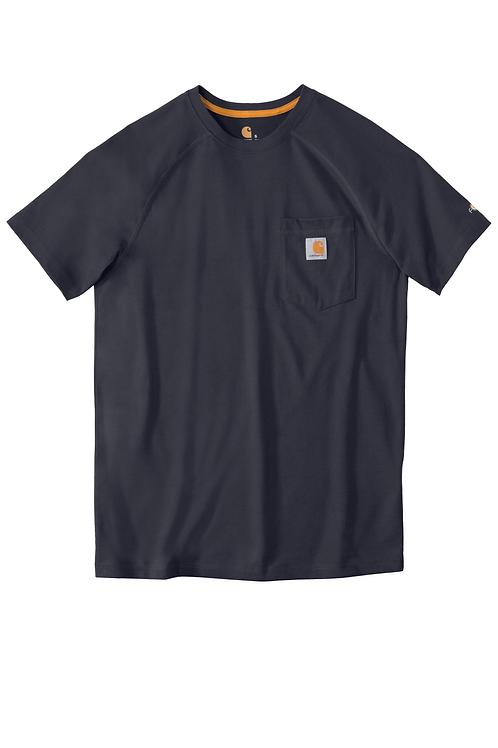 Carhartt Force Delmont Pocket Tee Navy Short Sleeve 2XL