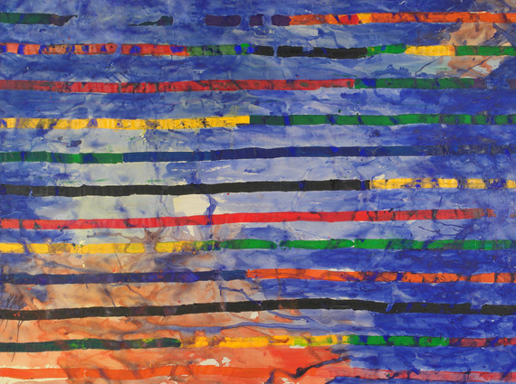 """""""Rue Nationale"""", Acrylic on canvas, 200 x 300 cm."""