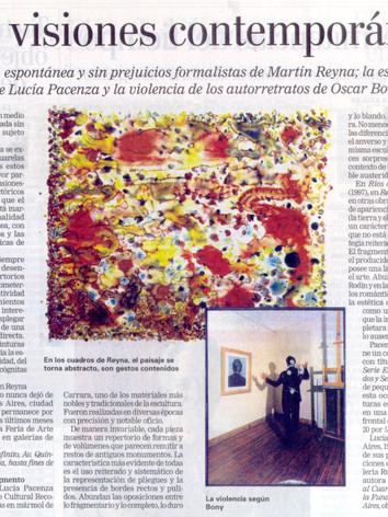 2005, La Nación, Buenos Aires, Tres visiones contemporáneas, Jorge López Anaya