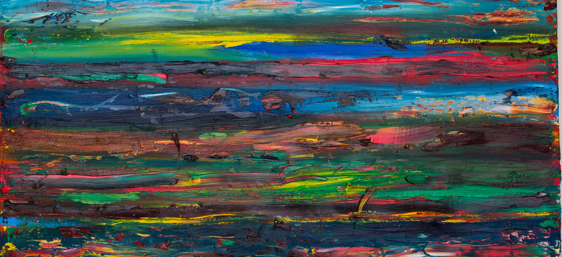 """Paysage"", 2014, oil on canvas, 160 x 150 cm."