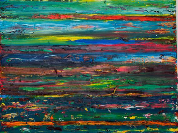 """Paysage"", 2014, oil on canvas, 160 x 150 cm."