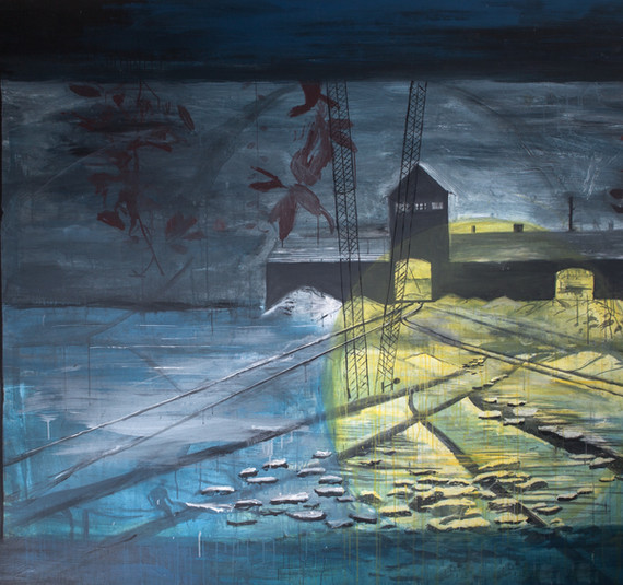 """Austchwitz"", 1984, acrylic on cancas, 200 x 290 cm."