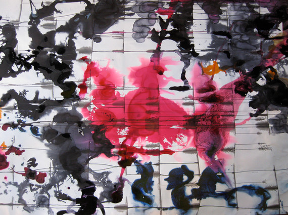 """Terraza"", 2011, mixed media on paper, 150 x 200 cm."
