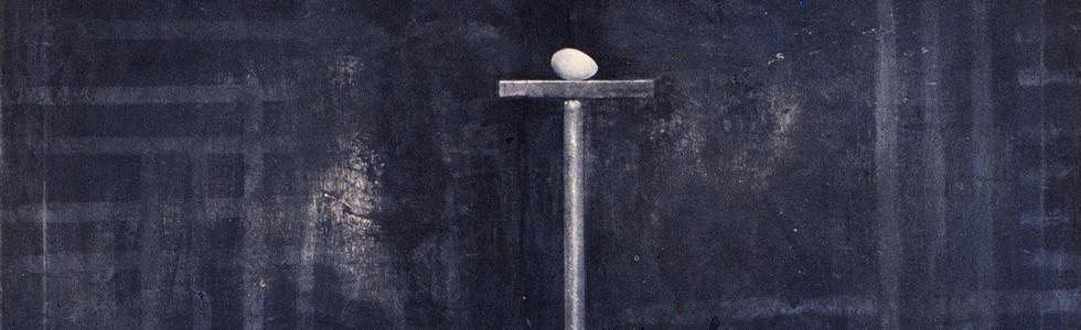 """Paisaje con huevo"", 1991, acrylic on canvas, 200 x 150 cm."