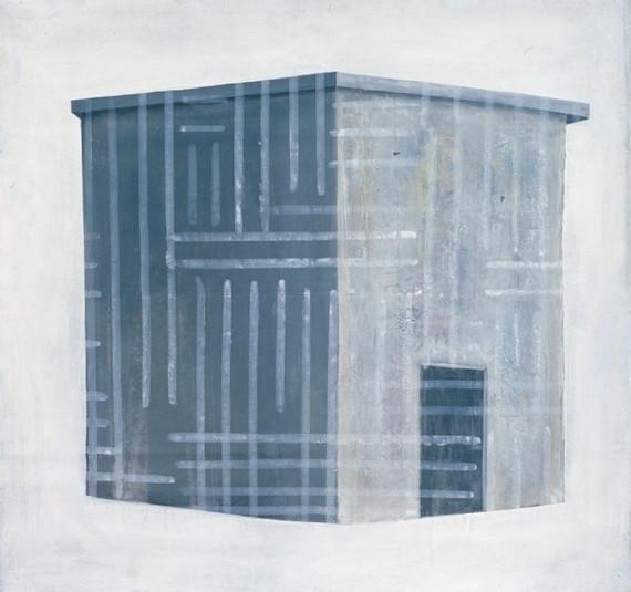 """Una casa"", 1990,  Acrylic on canvas ,141 x 150 cm."