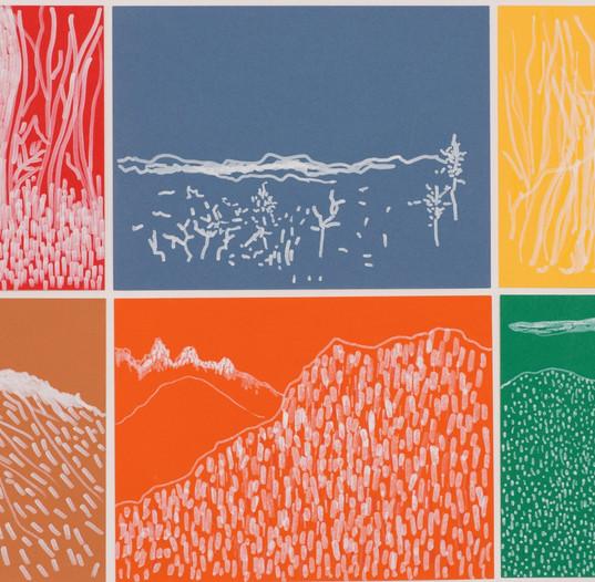 """""""Lago Puelo"""", 2018, Ink on paper, 50 x 100 cm."""