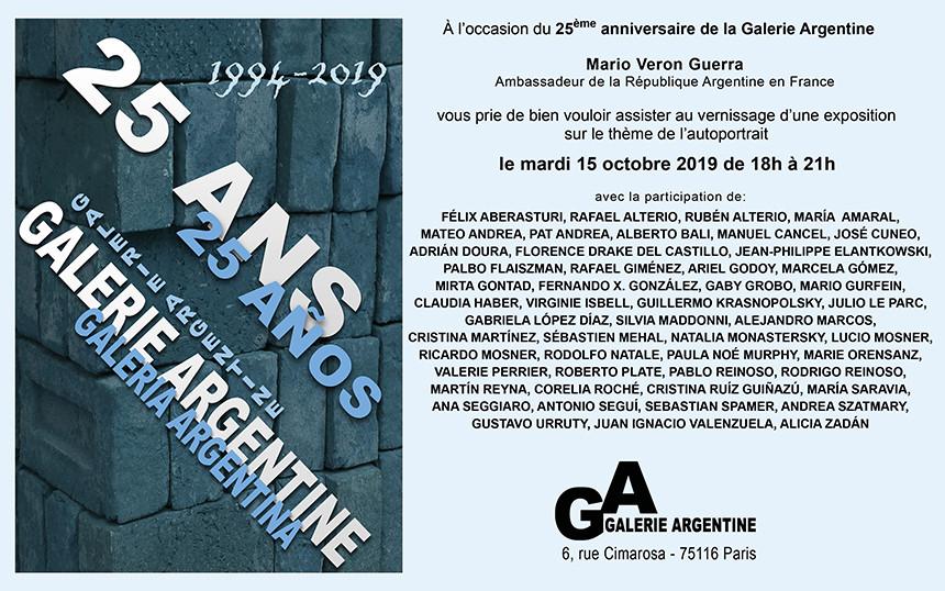2019, 25 ans de la Galerie Argentine, Paris