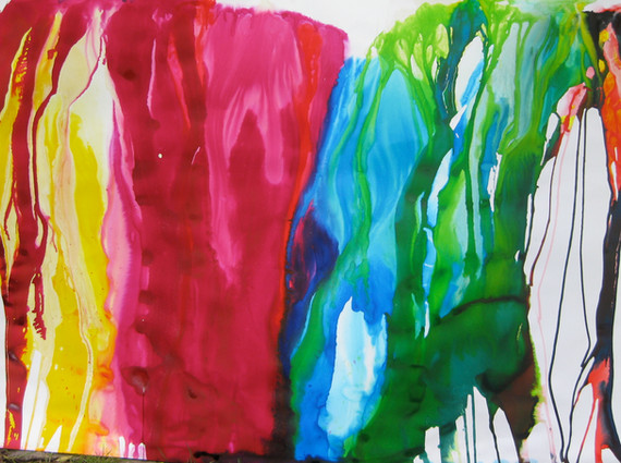 """""""Pararelo 42""""°, 2014,  mixed media on paper, 140 x 200 cm."""