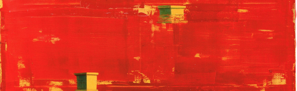 """Paisaje"" (Roma), 1997, oil on canvas, 141 x 138 cm."