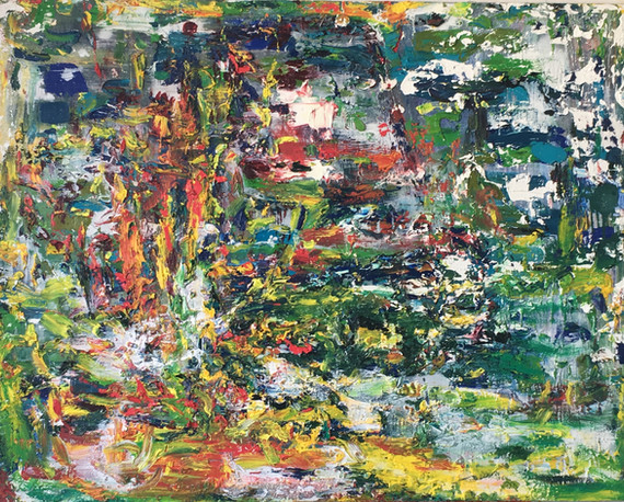 """Paysage"", 2019, oil on canvas, 114 x 146 cm."
