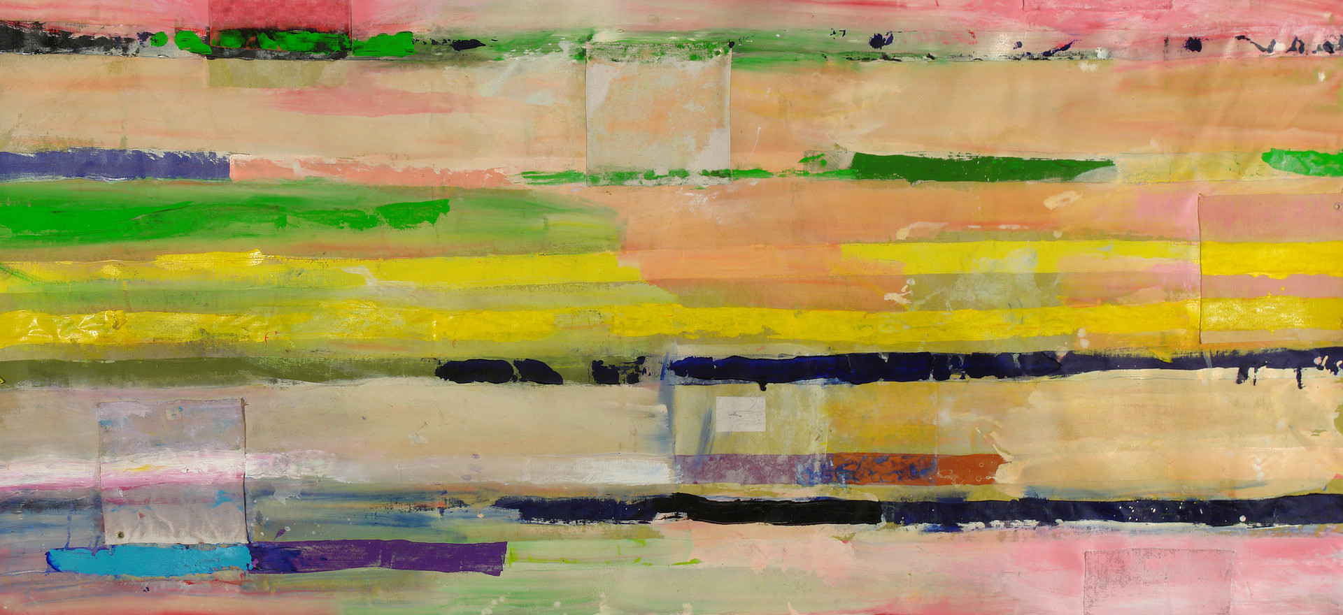 """Signalisation"", 2012,  acrilyc and canvas on canvas, 200 x 300 cm."