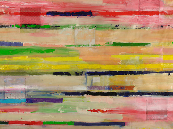 """""""Signalisation"""", 2012,  acrilyc and canvas on canvas, 200 x 300 cm."""