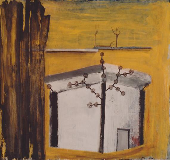 """""""Casa con árboles"""", 1991, acrylic on canvas, 180 x 200 cm."""