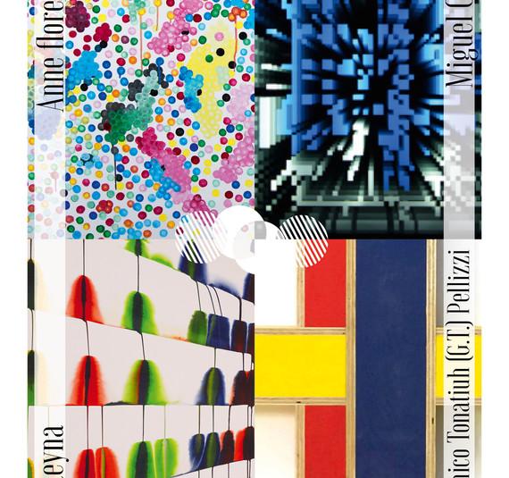 """2019, """"Quatre petits points"""": Anne-Flore Cabanis, Miguel Chevalier, Martín Reyna et Giandoménico Tonatiuh (G.T.) Pellizzi Galerie Escougnou, le samedi 12 octobre de 14 à 21h 7, rue Saint Claude , 75004, Paris, Commissaire Raphaël Ocampo"""