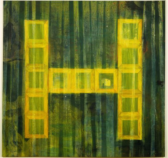 """""""Hogar"""", 1990, Acrylic on canvas,190 x 190 cm."""