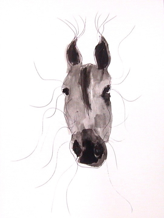Cheval, 2004, ink on paper