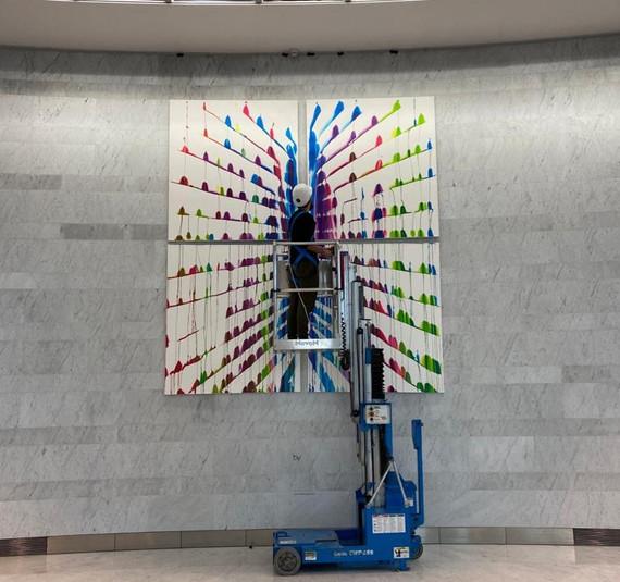 "2020, ""Kinetic and dripping"",  Martín Reyna et Nathalie Rothkoff Tour EDF à La Défense du 27 janvier au 27 mai"