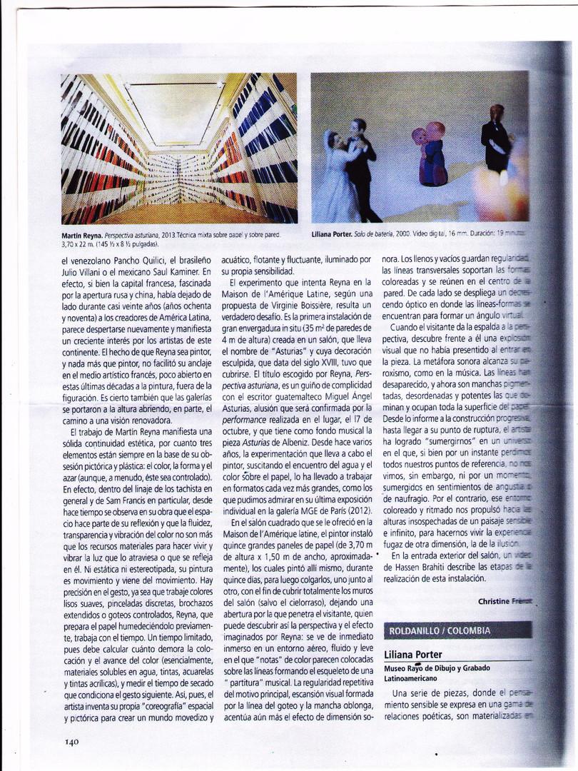2013, ArtNexus, Bogotá, Colombia, Martín Reyna, Maison de l'Amérique Latine, Christine Frérot