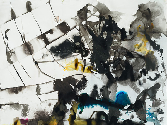 """""""Untitled"""", 2011, mixed media on paper, 220 x 180 cm."""