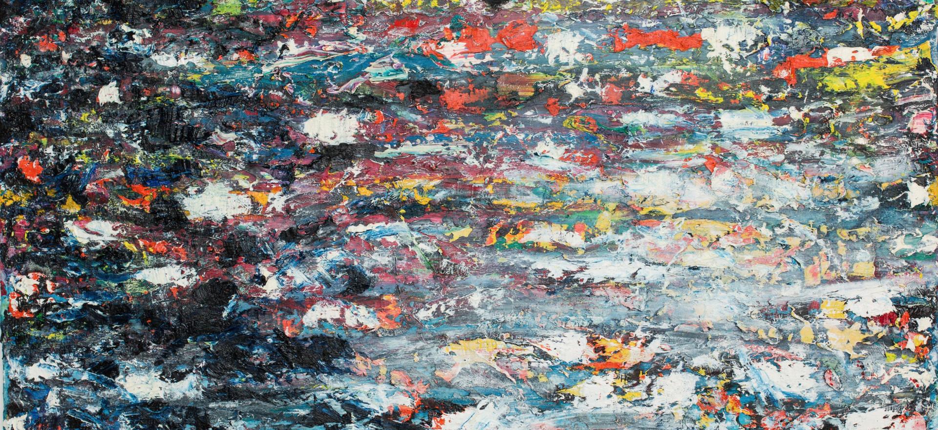 """Paysage"", 2018, 120 x 150 cm.  oil on canvas,"