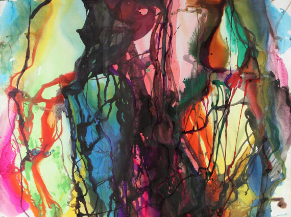 """""""Paralelo 42°"""", 2011, mixed media on paper, 150 x 180 cm."""